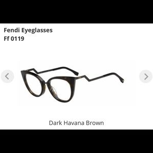 Fendi eyeglasses Dark Havana